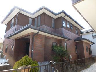 千葉県 君津市 屋根塗装 外壁塗装 カラーシミュレーション 濃い茶色バージョン
