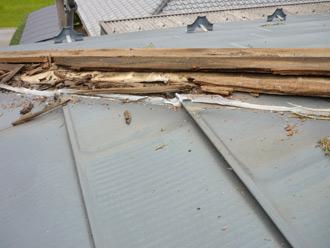 屋根塗装工事 棟板金交換工事 棟板金撤去