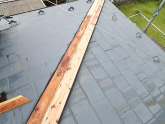 屋根塗装工事 棟板金交換工事 貫板設置