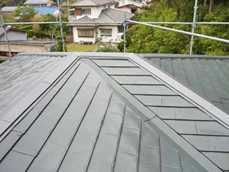 屋根塗装工事 棟板金交換工事 棟板金設置