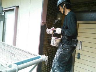 千葉県君津市 外壁塗装工事 下塗り