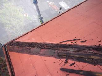 千葉県 大網白里市 屋根カバー工法 貫板の撤去