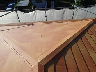 千葉県 大網白里市 屋根カバー工法 屋根カバー工法完了