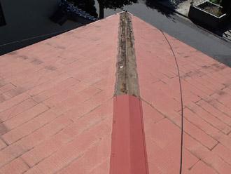 千葉県 大網白里市 屋根カバー工法 屋根の点検 棟板金の飛散