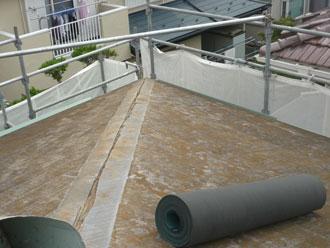 千葉県 市原市 屋根カバー 防水紙設置