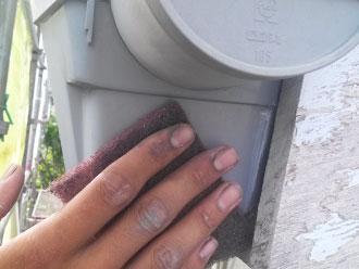 千葉県 市原市 雨樋塗装 下地処理 ケレン