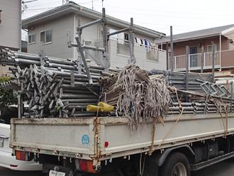 千葉県 市原市 屋根塗装 外壁塗装 足場の資材搬入