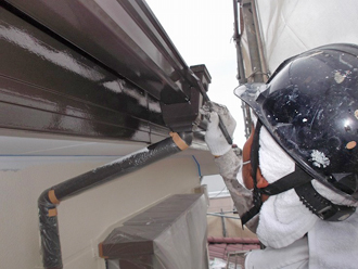 千葉県 市原市 部分塗装 雨樋の塗装