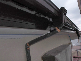 千葉県 市原市 部分塗装 雨樋の塗装 完了