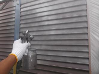 千葉県 市原市 部分塗装 雨戸の塗装 下塗り