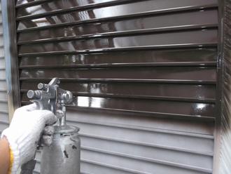 千葉県 市原市 部分塗装 雨戸の塗装 中塗り