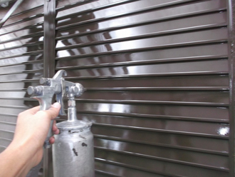 千葉県 市原市 部分塗装 雨戸の塗装 上塗り