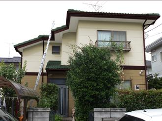 千葉県 市原市 カラーシミュレーション 屋根と庇はモスグリーンのパターン