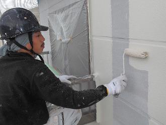 千葉県 市原市 外壁塗装 二階部分 中塗り