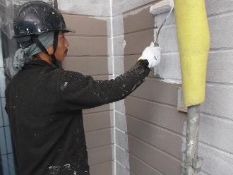 千葉県 市原市 外壁塗装 下塗り