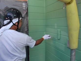 千葉県 市原市 外壁塗装 上塗り