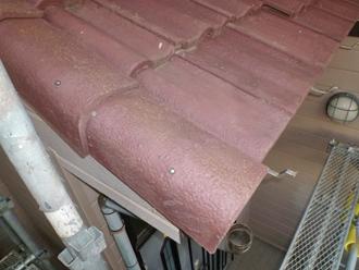 千葉県 市原市 玄関庇の補修 瓦の沈み改善