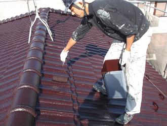 千葉県 市原市 屋根塗装 二回目の塗装