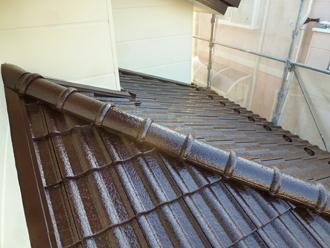 千葉県 市原市 屋根塗装完了 一階屋根の写真