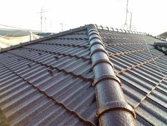 千葉県 市原市 屋根塗装完了 大屋根の写真