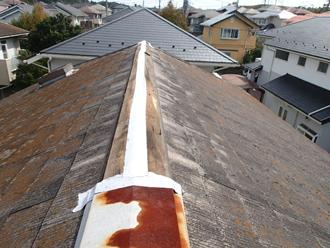 千葉県市原市 屋根の点検 棟板金飛散