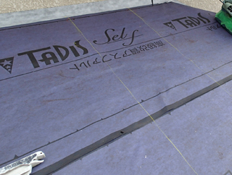 千葉県市原市 屋根カバー工法 防水紙設置
