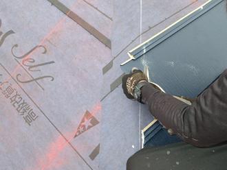 千葉県市原市 屋根カバー工法 屋根材の加工