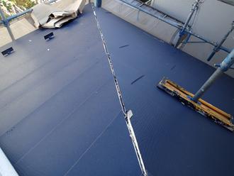 千葉県市原市 屋根カバー工法 屋根材設置完了