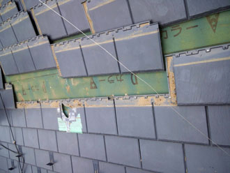 市川市 屋根補修 既存屋根材撤去