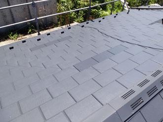 市川市 屋根補修 屋根復旧完了