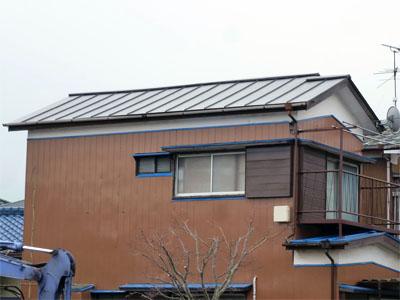 木更津市 屋根葺き替え アールロック 完工 軽くて地震に強い屋根へ