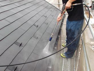 浦安市 屋根補修 屋根塗装 目地の補修 足場の架設