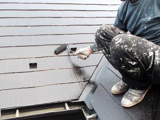 浦安市 屋根補修 屋根塗装 目地の補修 細かい部分の仕上げ