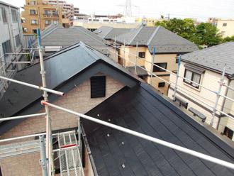 浦安市 屋根補修 屋根塗装 目地の補修 屋根塗装完了