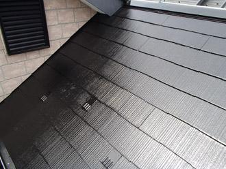 浦安市 屋根補修 屋根塗装 お客様との屋根の仕上がりを点検中