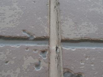 浦安市 屋根補修 屋根塗装 目地の補修 外壁の点検 目地のコーキングのひび