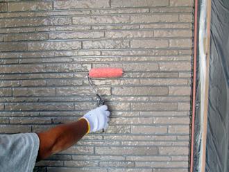 千葉市稲毛区 外壁塗装 上塗り