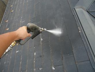 千葉市稲毛区 屋根葺き替え 高圧洗浄