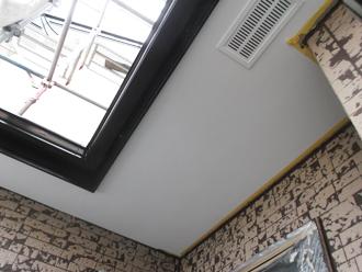 千葉県習志野市 屋根塗装 外壁塗装 塗装の様子 軒天 塗装完了後