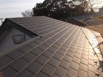 千葉県習志野市 屋根塗装 外壁塗装 塗装の様子 屋根 洗浄後 きれい