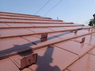 千葉県習志野市 屋根塗装 外壁塗装 塗装の様子 屋根 塗装完了