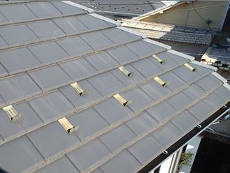 千葉県習志野市 屋根塗装 外壁塗装 点検の様子 屋根 雪止め 金具