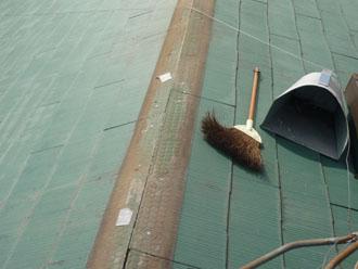 袖ヶ浦市 屋根 板金工事  古い貫板の撤去 古い板金の撤去 清掃