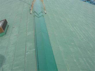 袖ヶ浦市 屋根 板金工事 新しい板金の設置完了