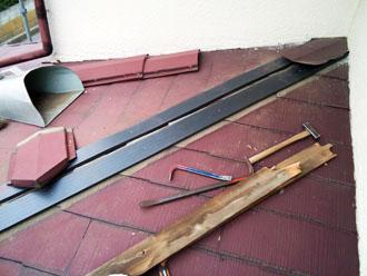 袖ヶ浦市 板金交換工事 貫板の設置 樹脂製貫板 タフモック ケイミュー