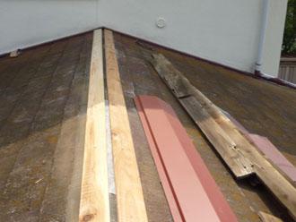 千葉県 袖ヶ浦市 板金交換工事 貫板を設置 棟板金をを設置