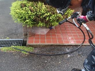 千葉県袖ヶ浦市 屋根塗装 棟板金交換 玄関廻りの高圧洗浄 細部