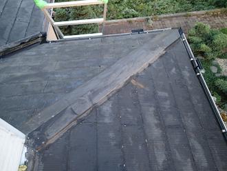 千葉県袖ヶ浦市 屋根塗装 棟板金交換 屋根点検 外れていない棟板金