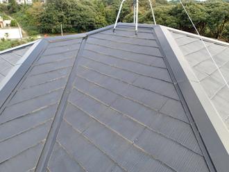 千葉県袖ヶ浦市 屋根塗装 棟板金交換 屋根点検 大屋根の色褪せ