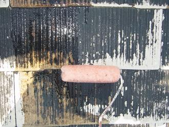 千葉県袖ヶ浦市 屋根塗装 下塗り